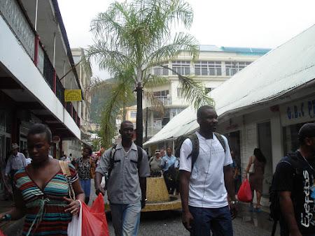Strada pietonala din Victoria Seychelles
