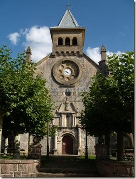 Iglesia y plaza de Auritz - Burguete
