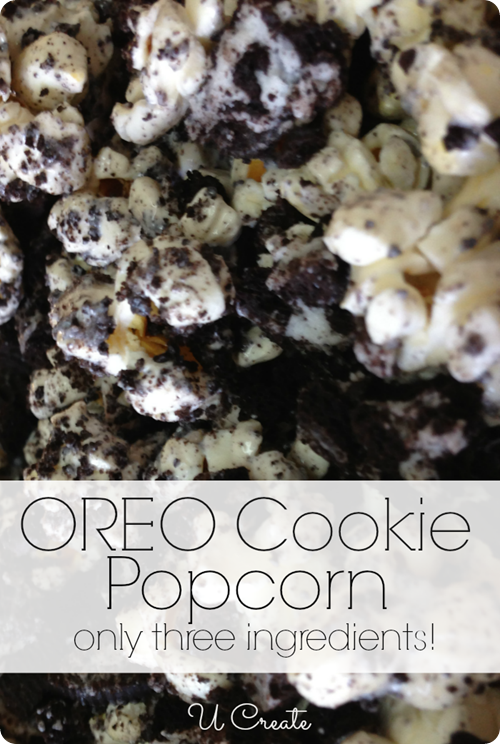 Oreo Cookie Popcorn Recipe