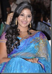 Actress Anjali Cute Saree Photos at SVSC Movie Audio Launch