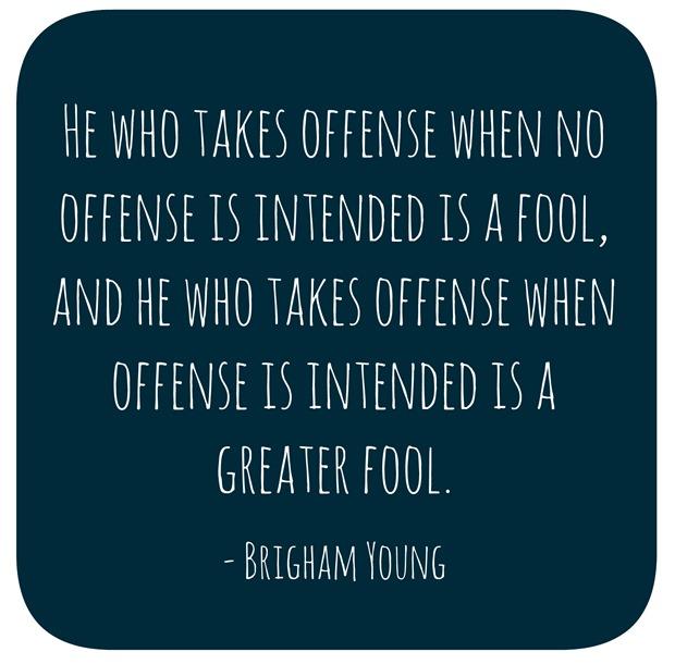 taking offense