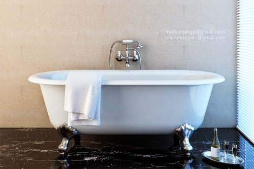 Classic Luxury Bathroom 古典浴缸_Bathtub Close up