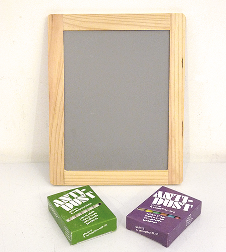 This chalkboard set is ideal for any bustling summer house. You can use it to make out farmers' market lists or write messages to guests. (brookfarmgeneralstore.com)
