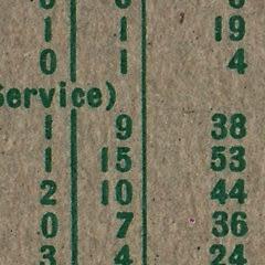 1959 Topps 313 Frank House full print back close up