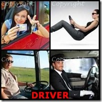 DRIVER- 4 Pics 1 Word Answers 3 Letters