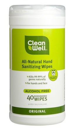 These gentle sanitizing wipes are great to have around for cleaning messy faces and hands. (soap.com)