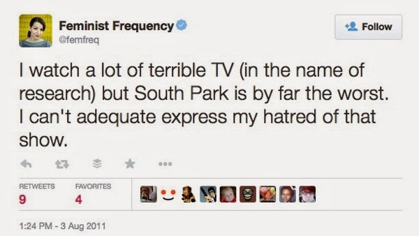 hating on South Park
