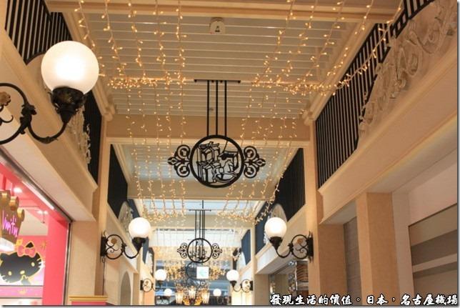 日本名古屋機場,名古屋機場的候機室外面有歐風西洋式建築的商店街。