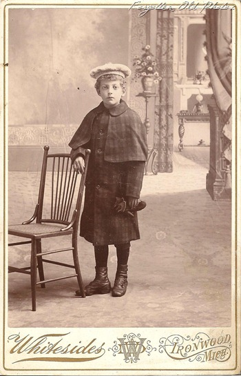 Cabinet Card Young Man Traveling perhaps DL Antiques