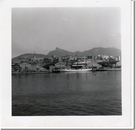 44 -  July 9, 1952 Rio de Janeiro, Brazil - View from the S.S. Brazil Photoshop Color Adjusted