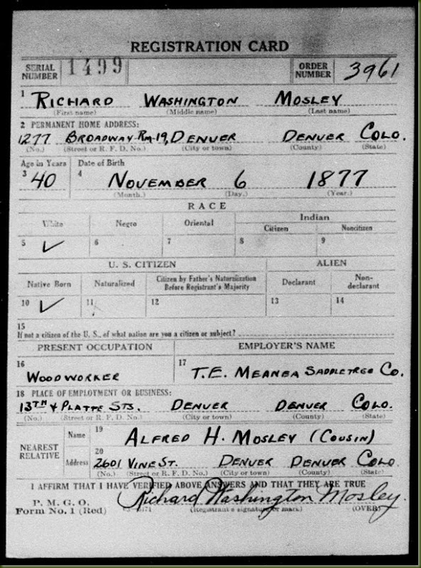 Richard-W-Mosley,-WWI-draft-registration,-front