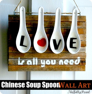 Love Is All You Need Chinese Soup Spoon Wall Art