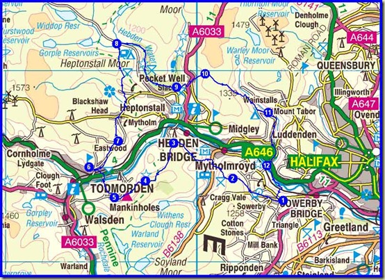 Our route - 42 km, 1350 metres ascent, 7 hours 11 minutes