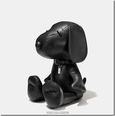 COACH X Peanuts large leather snoopy doll - USD 1500 - black