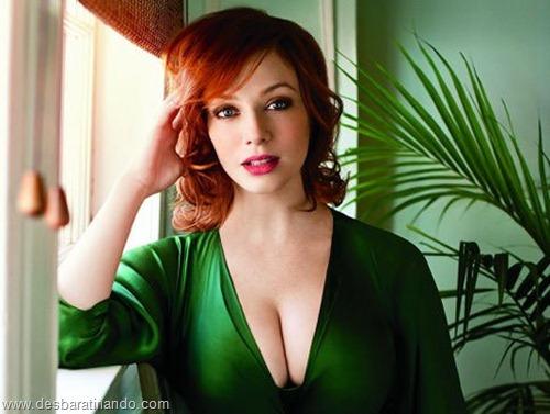 Christina Hendricks linda sensual sexy sedutora decote peito desbaratinando (13)