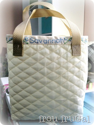 Quilted Scripture Bag Outside