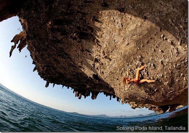 Soloing Poda Island, Tailandia