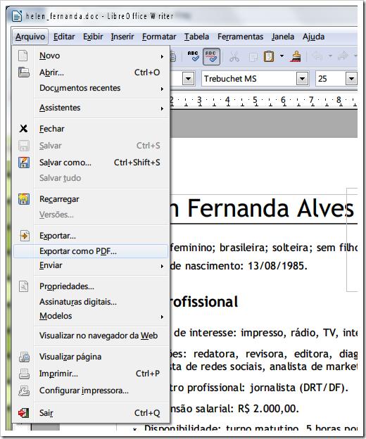 Exportar como PDF no Write