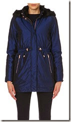 Ted Baker Blue Faux Fur Trimmed Parka