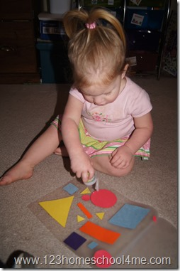 Toddler My Shapes Placemat