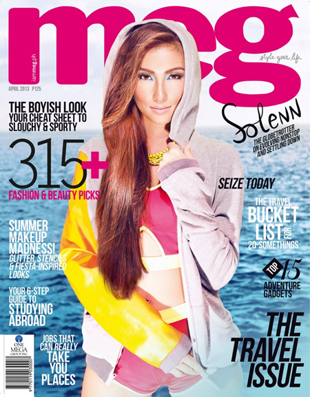 Solenn Heussaff on Meg Apr 2013