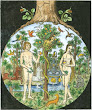 Woodcut Of Temptation Of Adam And Eve France Around 1500