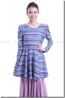 peplum tribal blue