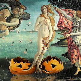 Happy Halloween from Italy!! by Aurora Boreale - Digital Art Things ( pumpkin, venere, halloween )