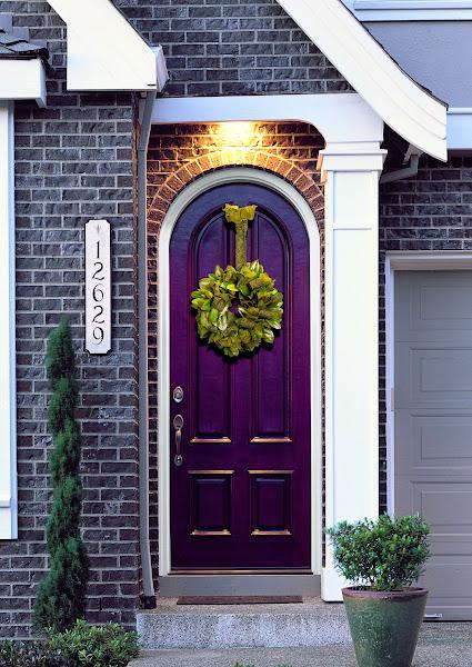 FiberglassExteriorDoorwithwreathjelwen Front Door Decorations