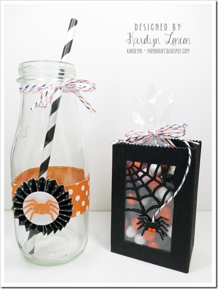 MFT Halloween Party Ensemble Orange Favor & Bottle Rosette