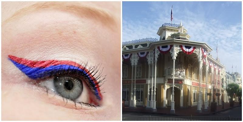 main street usa makeup look disney magic kingdom walt disney world florida