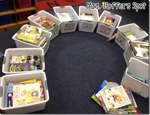 Classroom Organization, organizing books by month