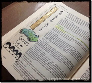 Golden Rule Bible Journaling Page
