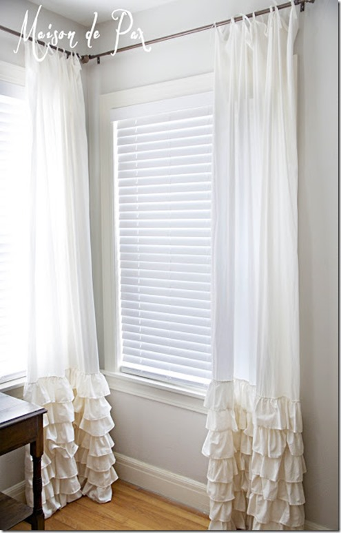 ruffled curtains west windows