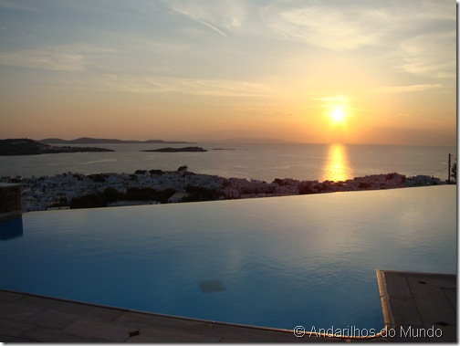 Por do Sol Mykonos Grécia