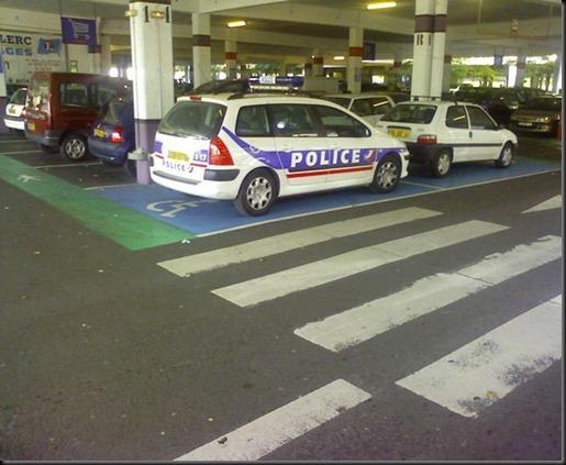 Police handicapé
