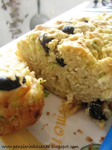 Cake salato zucchini olive e feta 8