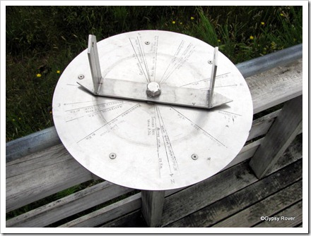 Compass guide of the veiw from Mt Dick.