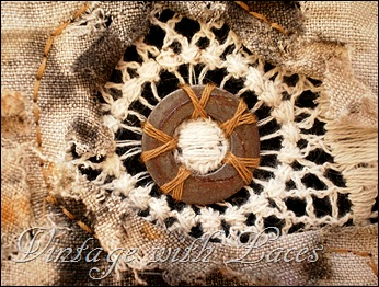 Lace with rusty washer