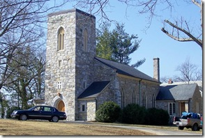 Building Christ Church that replaced Old Chapel in 1834 in Millwood