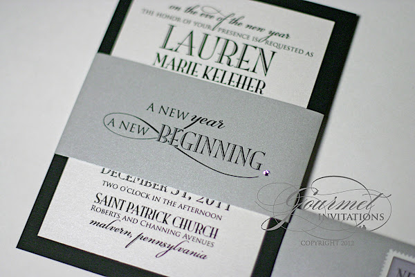 Diy new years eve wedding invitations