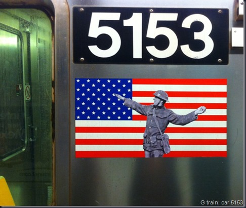 G train; car 5153