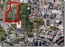 In rosso l'area dove verrà realizzato il sito di compostaggio a Scampia