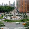 Columbus Circle NYC fake tilt-shift