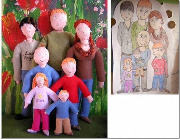 Brinquedos de pelúcia feitos a partir de desenhos de crianças (8)