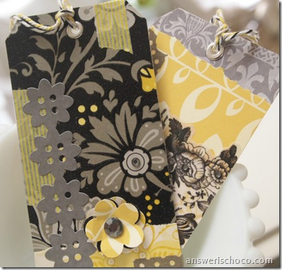 Scrap Tags Black Gray Yellow