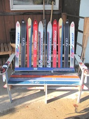11.2011 Maine chair made from skis