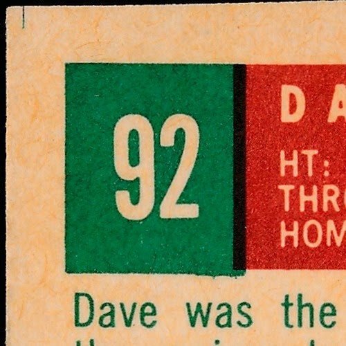 1959 Topps 92 Dave Philley raw back variation