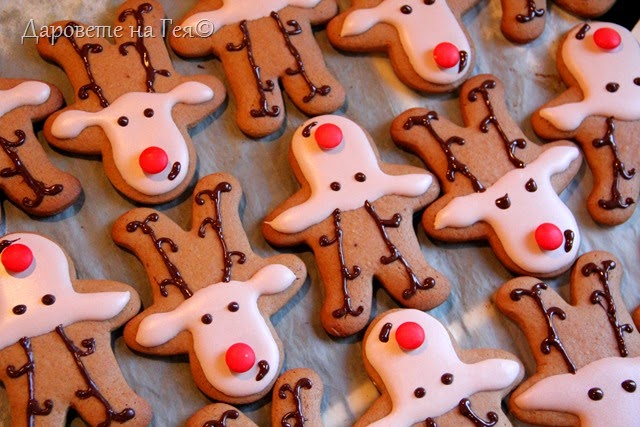 christmas cookies Rudolph