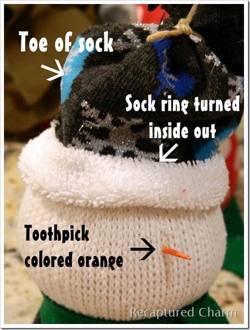 Sock Snoman Sock Santa 010a